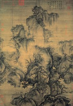 Early Spring, Guo Xi, Ancient Chinese Northern Song Dynasty, ink and light colour on silk.