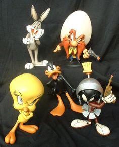 Looney Tunes gang. Bugs. Yosamite Sam. Sylvester. Tweety. Marvin The Martian