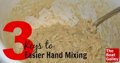 If you're going to use a mixing spoon to hand mix batter or dough, keep these 3 keys in mind!