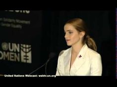"""How can we change the #world when only half of it's population are invited to the conversation?"" Incredible speech from #Emma Watson launching the #UN ""He For She"" #campaign promoting #genderequality!"