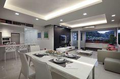 Family nest living and dining area. #LivingRoom #Family #Interior