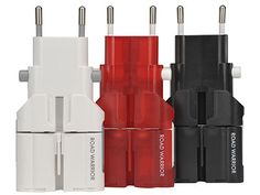 ROAD WARRIOR plug adapter Gocon W2 comes in 3 colors - white, Red and Black.