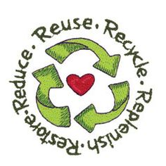 5 Rs of Recycling (machine embroidery design)