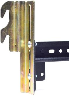 Amazon.com: Ronin Factory Hook On Bed Frame Brackets Adapter for Headboard Extra Heavy Duty, Set of 2 Brackets with Hardware, 711 Bracket, Bolt-On to Hook-On Conversion: Furniture & Decor Headboard With Shelves, Bed Frame And Headboard, Queen Headboard, Bed Frames, So Happy, Bed Frame Hardware, Bed Frame Parts, Metal Bed Rails, Wood Hooks