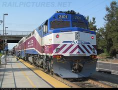 RailPictures.Net Photo: 3101 Altamont Commuter Express EMD F40PH at Santa Clara, California by Dom Blevins (sjrailfan35)