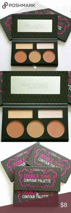 Beauty Creations Double Shine Contour Palette Contour and highlight with five powder shades all in one palette. Featuring three matte contour powders and two subtle shimmer highlighters, you'll easily sculpt, define and add a little glow without much of hassle.   Net Wt. 0.63oz (18g) Brand New & Sealed Beauty Creations  Makeup Face Powder
