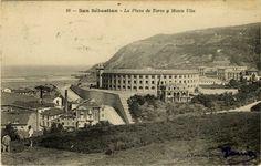 San Sebastián : la plaza de toros y monte Ulía, 19--?
