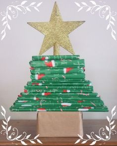 """Simple and effective """"book themed"""" advent calendar.  What do you think of this idea?  You could even wrap books that you already own, and just introduce a few new ones...the unwrapping and reading would be more exciting than a new book every night, no?"""