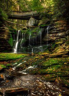 15 Breathtaking Waterfalls Hiding In West Virginia |  Elakala Falls, located in Blackwater Falls State Park in Davis, WV.