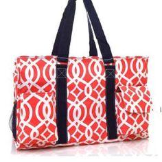 Lattice Vine Canvas Multipurpose Utility Tote Bag Shopping Travel