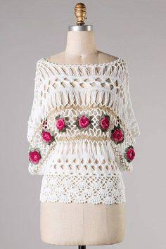 Ana Maria Braga usando Croche de grampo