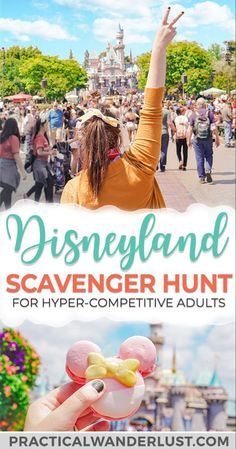 Take your next Disneyland trip to a whole new level with the Disneyland Scavenger Hunt! Finally, a Disney Scavenger Hunt that's challenging enough for adults. Plus: 12 Disneyland tips for your next trip to Anaheim, California, USA. Source by practicalw Disneyland Secrets, Disneyland Food, Disneyland Resort, Disneyland America, Disneyland Birthday, Disneyland Christmas, Disney California, California Travel, Anaheim California