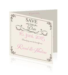 Love trouwkaarten of een retro en vintage uitnodiging. Een mooie retro kaart voor de bruiloft.