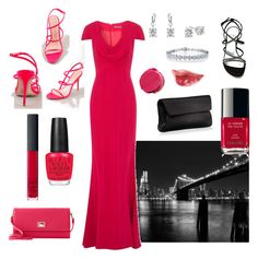 Evening Red or Black by liquidt13 on Polyvore featuring polyvore, fashion, style, Alexander McQueen, Jean-Michel Cazabat, Stuart Weitzman, Marni, Dooney & Bourke, Fantasy Jewelry Box, NARS Cosmetics, Napoleon Perdis, Chanel, OPI and clothing