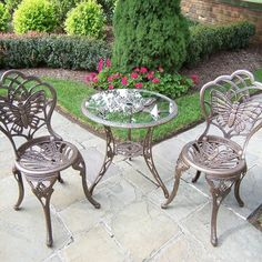 Outdoor Oakland Living Butterfly Bistro Set - 3601-A