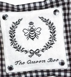 Queen Bee is the title of this cross stitch pattern from JBW Designs.