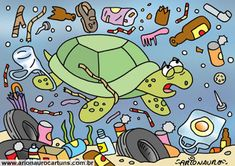ARIONAURO CARTUNS - Blog do Cartunista Arionauro Air Pollution Poster, Earth Drawings, Save The Sea Turtles, Preschool Art Activities, Save Our Earth, Poster Drawing, Pencil And Paper, Projects For Kids, Designs To Draw