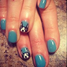December 17, 2013 Boston Terriers Nail Art