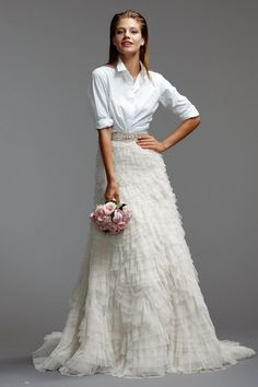 The Actual skirt from the bride in denim everyone repins Watters Brides Milada (skirt)