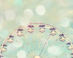 girl nursery art ferris wheel photograph mint peach wall art girls room decor carnival photography on Etsy, $21.00