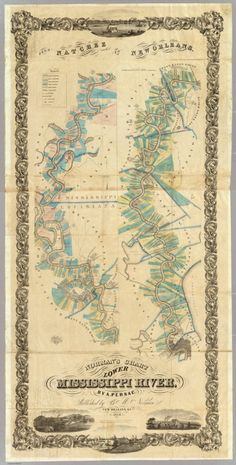 Chart of the Lower Mississippi River (1858)