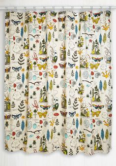 Decor on Display Shower Curtain. You may be known for your green thumb, but today youre cultivating compliments on your decorating skills by hanging this cotton shower curtain in your bathroom! #multi #modcloth
