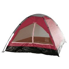 Happy C&er 2 Person Tent Brick Red CAMPING HIKING SHELTER OUTDOOR Beach  sc 1 st  Pinterest & Wakeman 2-Person Tent Water Resistant Dome Tent For Camping With ...