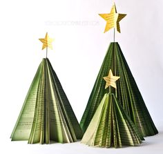 bb posted Christmas Tree Book Page Decorations - Set of Three Holiday Trees with Star Toppers - Paper Holiday and Winter Decor to their -christmas xmas ideas- postboard via the Juxtapost bookmarklet. Book Christmas Tree, Book Tree, Holiday Tree, All Things Christmas, Holiday Crafts, Christmas Holidays, Christmas Ornaments, Christmas Angels, Merry Christmas