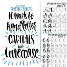 Hand Lettering Practice Sheets 10 Ways to by ThePigeonLetters Brush Letters, 26 Letters, Lower Case Letters, Hand Lettering Tutorial, Hand Lettering Fonts, Doodle Lettering, Chalk Typography, Vintage Typography, Hand Lettering For Beginners