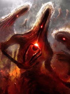cosmic horror art at DuckDuckGo Dark Fantasy Art, Fantasy Artwork, Dark Art, Space Fantasy, Monster Art, Monster Concept Art, Creepy Monster, Arte Horror, Horror Art