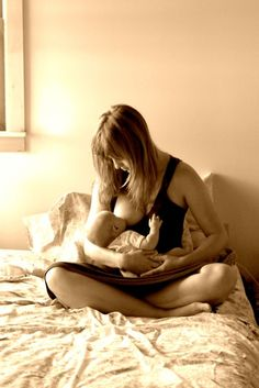 I can think of no gesture more lovely than that of a woman giving to her child of her own body.