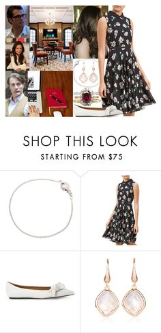 """""""(Read) Having a meeting with her small council and discussing important issues regarding their move to Stafford House"""" by marywindsor ❤ liked on Polyvore featuring Ternary London, Hobbs and Monica Vinader"""
