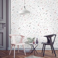 Wallpaper Inspiration // terrazzo-granit Papermint papier peint Plus Living Room Interior, Home Design, Interior Design Living Room, Interior Decorating, Terrazzo, Modern Farmhouse Style, Farmhouse Style Decorating, Home Decor Trends, Home Decor Inspiration