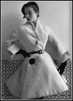 Bettina in Jacques Fath, photo by Henry Clarke, 1951