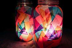 DIY Colorful Garden Lanterns | HelloNatural.co