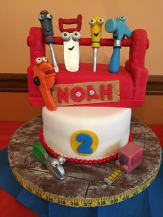 Handy Manny tools toolbox cake