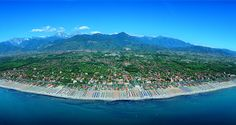 Versilia, one of the most famous beaches of Italy. Fashionable Riviera resorts, gay and straight clubs between the sea and the Apuan Alps. #gay  #travel #gaydisco #friendly #tuscany #italy