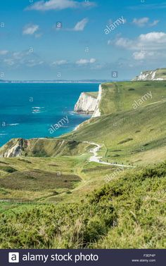 Download this stock image: Scenery near Durdle Door, Lulworth, Dorset, UK. Taken on 28th September 2015. - F3EP4P from Alamy's library of millions of high resolution stock photos, illustrations and vectors.