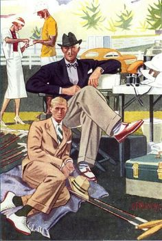 1930's Men' Fashion, illustrated by Laurence Fellows