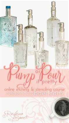 Pump or Pour it Pretty Acrylic Furniture, Creative Skills, Color Theory, Online Courses, Stencils, Bottles, Number, Colorful, Shapes