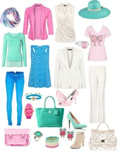 """pastelkleuren outfits"" by jj-van-gemert on Polyvore"