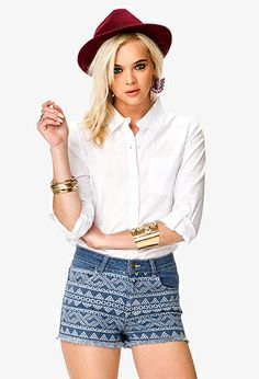 No-Fuss Button Down   FOREVER21 - 2036098751