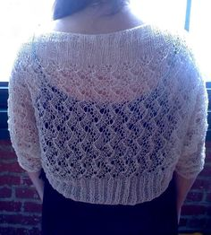 8599d15549f9 Pdf HOARFROST LACE SHRUG Knitting Pattern in 2 by heirloomlace