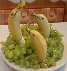 banana dolphins cute! birthday party food