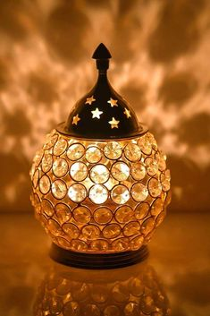 Decorative Indian Tea Light Holder / Diya Holder / Oil Lamp/ Candle holder Brass & Crystal Figure   Home Decor Ideal Gift, #DewaliGifts #DewaliGiftIdea