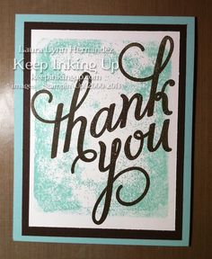 Easy thank you card using Another Thank You Photopolymer stamp set from Stampin' Up!