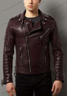 New Men's Quilted Motorcycle Genuine Lambskin Leather Rider Biker Jacket PA-100 #AriesLeathers #Motorcycle