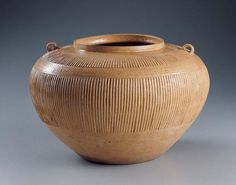 Jar with Ribbed Decoration - China  | Kimbell Art Museum, Warring States Period