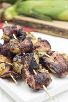 Grilled Bacon Wrapped Shrimp can be grilled any time of year. Perfect for a weeknight dinner.