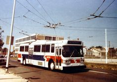 SEPTA RT.59 BELLS CORNER. AMG TRACKLESS TROLLEY.